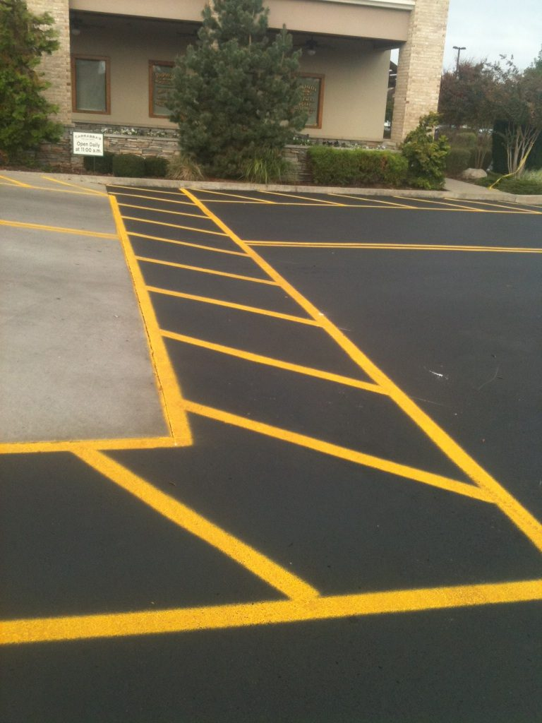 Parking lot striping by LinePro Striping Nashville TN